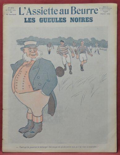 Assiette au Beurre N˚573  13 Avril 1912  Les Gueules Noirs par Andrisek