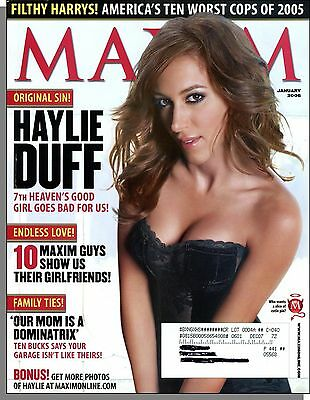 Maxim 97   2006  January   Haylie Duff  Our Mom Is A Dominatrix  10 Worst Cops