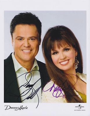 """Donnie & Marie Osmond 8x10 Signed Autograph Reprint Photo """"Mint"""""""