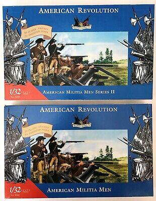 IMEX 1/32 American Revolution American Militia Men I II 3201 3209 Lot