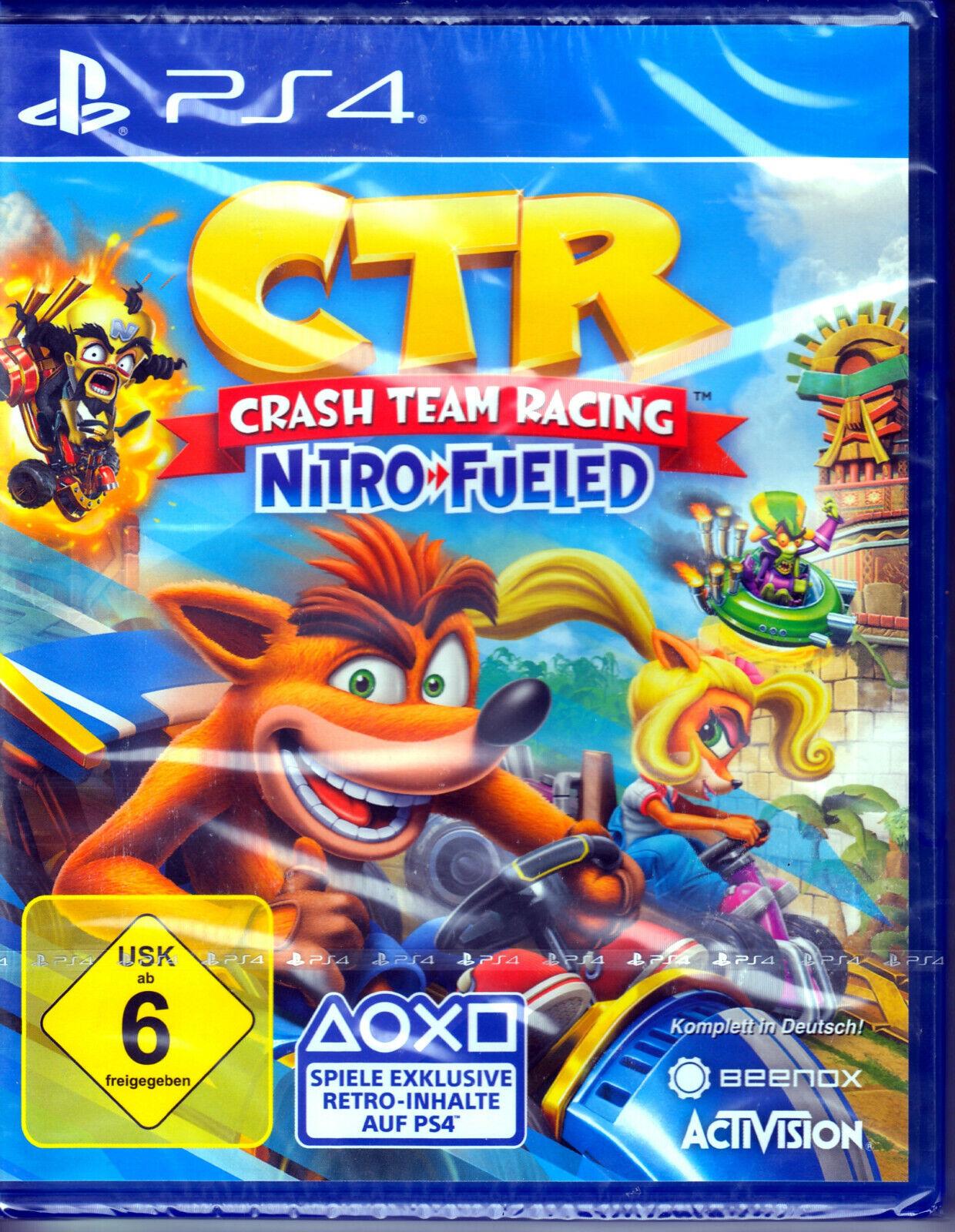 Crash Team Racing Nitro Fueled Nitros PS4 Spiel NEU(Rennspiel)