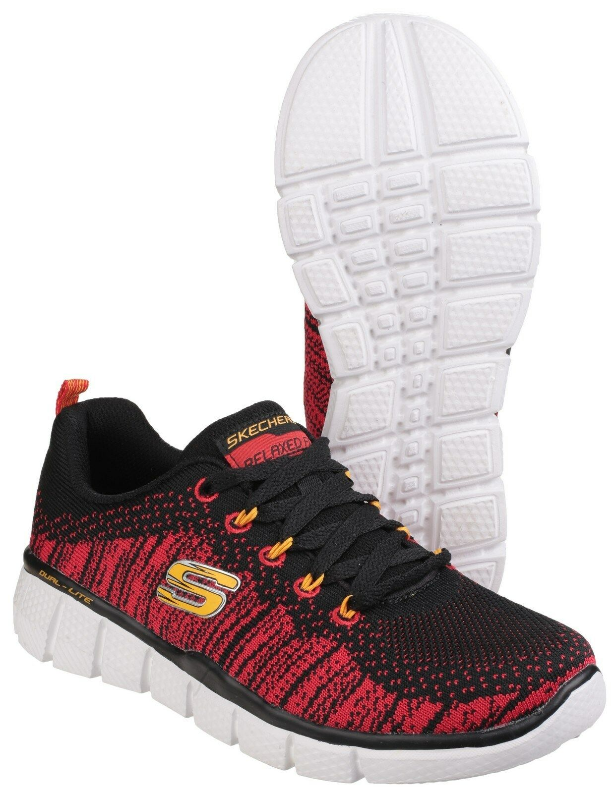 hot sale online 83d9c 1b732 Skechers Equalizer 2.0 Perfect Game Kids Boys Athletic Trainers Shoes  UK10.5-6