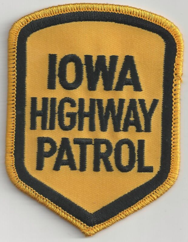 IOWA HIGHWAY PATROL - SHOULDER PATCH - IRON OR SEW-ON PATCH