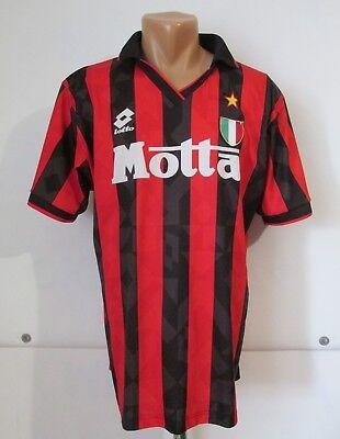 AC MILAN 1993/1994 HOME FOOTBALL SHIRT JERSEY MAGLIA CALCIO ITALY LOTTO MOTTA M