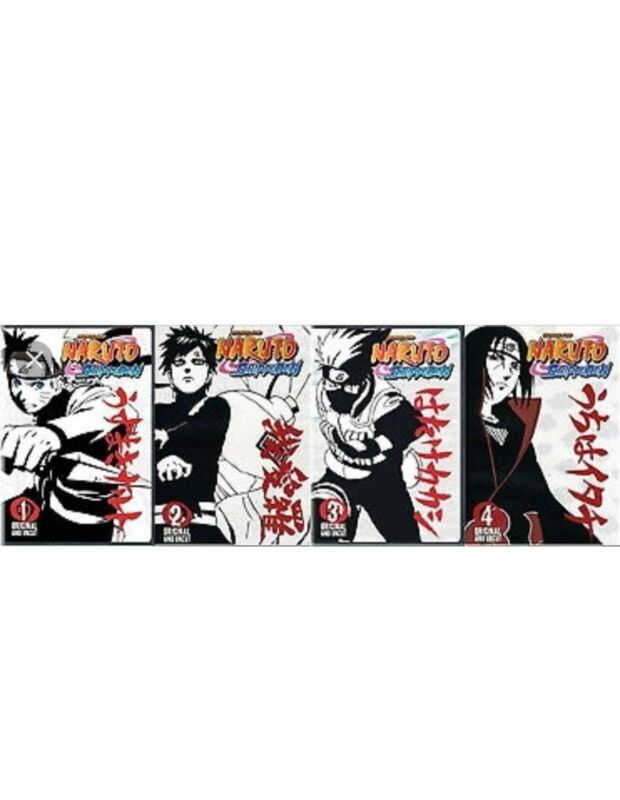 "NARUTO SHIPPUDEN: UNCUT TV SERIES DVD COMPLETE VOLUME 1-4 ""Re Mastered Copies"""