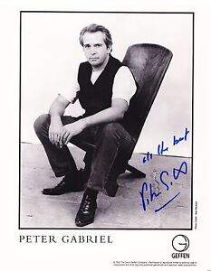 Peter Gabriel  Autograph, Original Hand Signed Photo