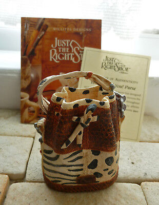 VERY RARE JUST THE RIGHT SHOE – You Animal You Matching Purse 26311 with COA