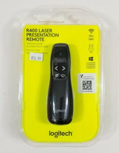 NEW Logitech R400 Laser Presentation Remote 50ft USB Windows Compatible