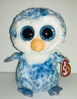 "TY ICE CUBE PENGUIN 6"" BEANIE BOOS- NEW, RED TAG-RETIRED, HARD TO FIND-SNOW FUN"
