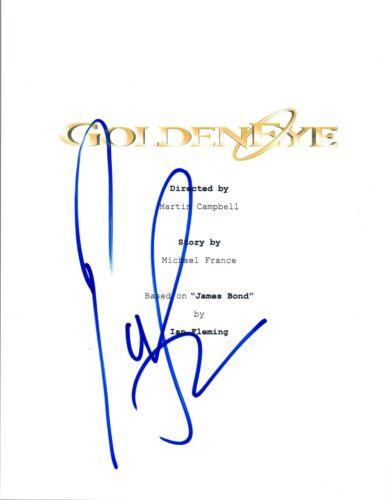 Pierce Brosnan Signed Autographed GOLDENEYE Movie Script James Bond 007 COA VD