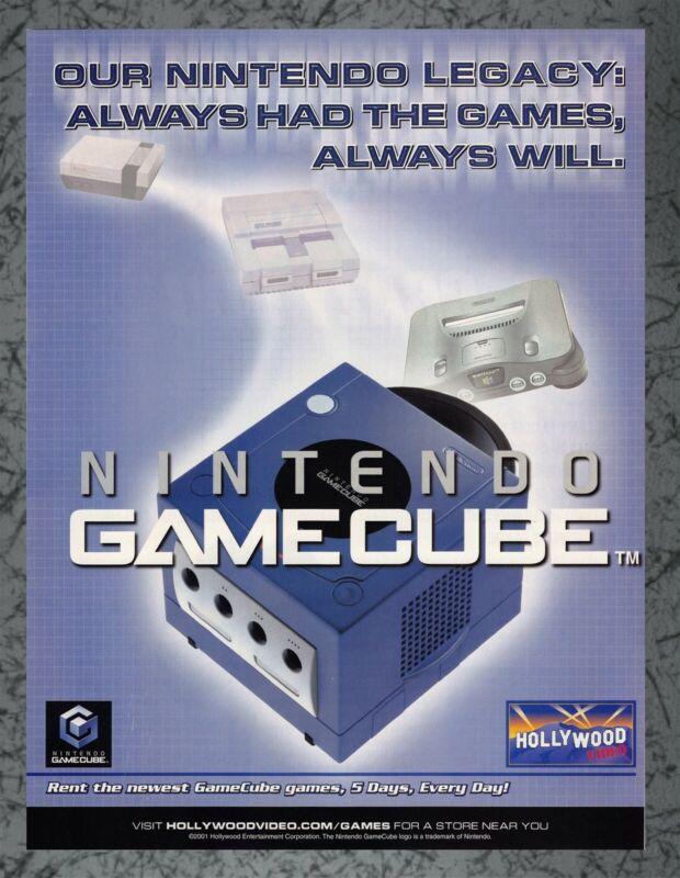 Nintendo GameCube - Hollywood Video - 2001 Print Ad Original Art 7.75x10.50