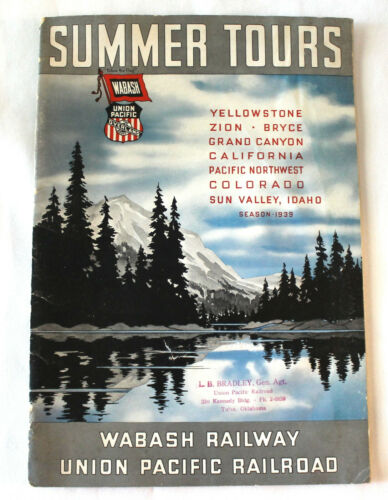 1939 Wabash and Union Pacific SUMMER TOURS BOOKLET