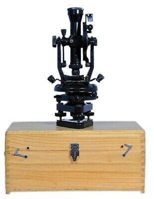 Vintage 15 Large Brass Optical Surveyors Theodolite Transit Vernier For Survey