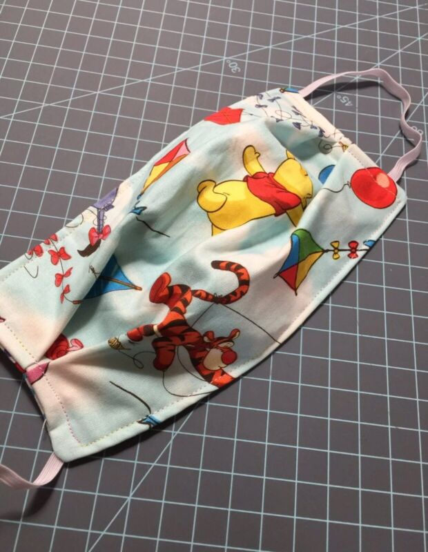 Adult Winnie The Pooh Disney Face mask Cover Filter Pocket Shopping Reservable