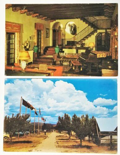 2 Vtg Postcards BSA Philmont Scout Ranch Interior Villa Philmonte & Tent City NM