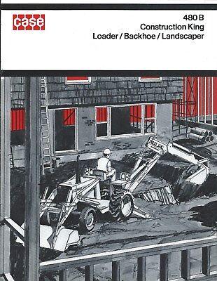 Equipment Brochure - Case - 480b Construction King Loader Backhoe C1971 E3856