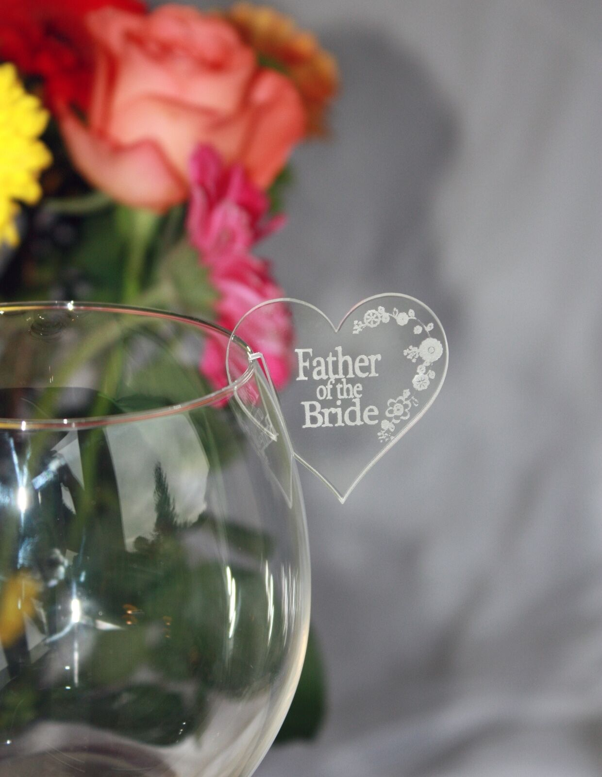 Wedding/Party Table name places for wine glasses personalise