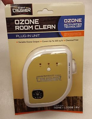 Scent Crusher Ozone Room Clean Scent Elimination Plug-in Unit - 69713
