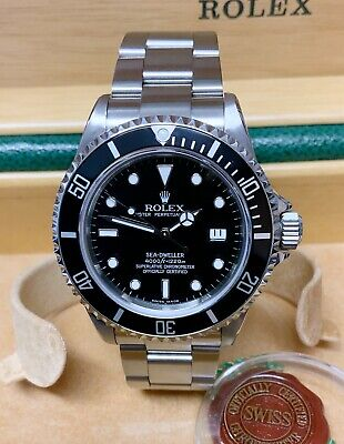 Rolex Sea Dweller 16600 Black Dial 40mm With Papers SERVICED BY ROLEX