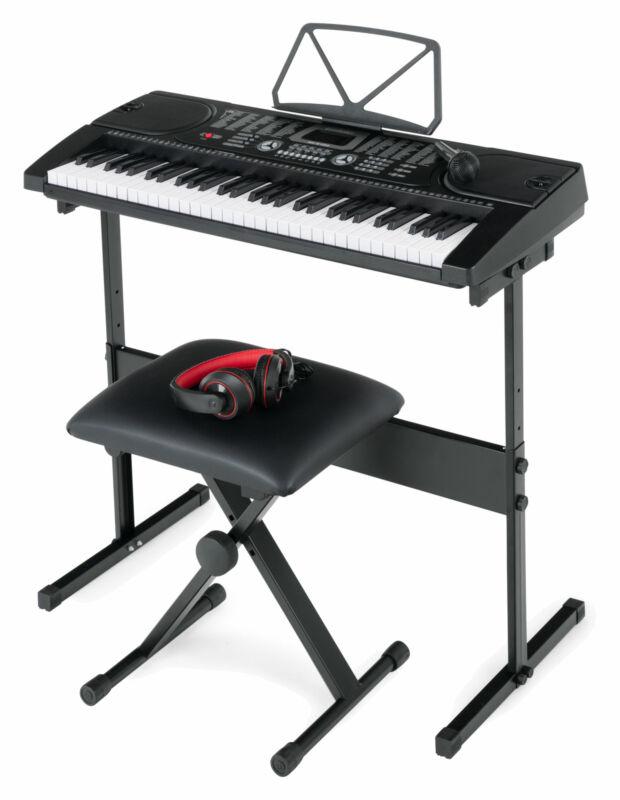 Digital 61 Tasten Keyboard E-Piano 255 Sounds Rhythmen Kopfhörer Bank Lern Set