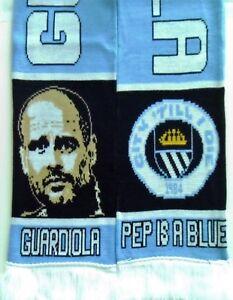 Manchester City Football Scarves / Pep Guardiola Scarf / Memorabilia