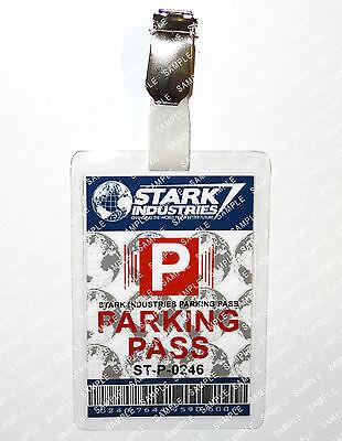 Tony Stark Industries Parking Iron Man Cosplay Costume Prop Comic Con Halloween](Tony Stark Halloween Costume)