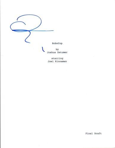 Joel Kinnaman Signed Autographed ROBOCOP Movie Script COA VD