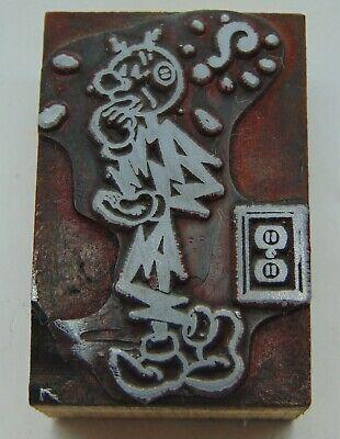 Printing Letterpress Printers Block Reddy Kilowatt Character