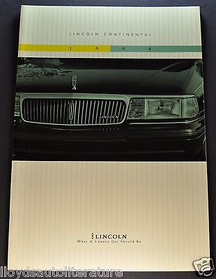 1994 Lincoln Continental Catalog Sales Brochure Excellent Original 94