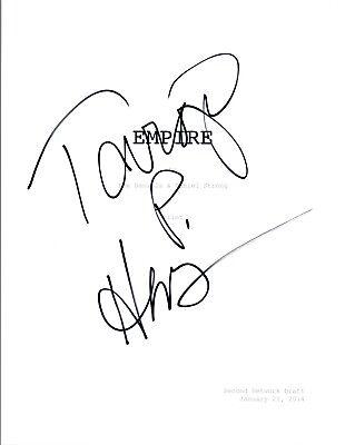 Taraji P. Henson  Signed Autographed EMPIRE Pilot Episode Script COA VD (Empire Pilot Episode)