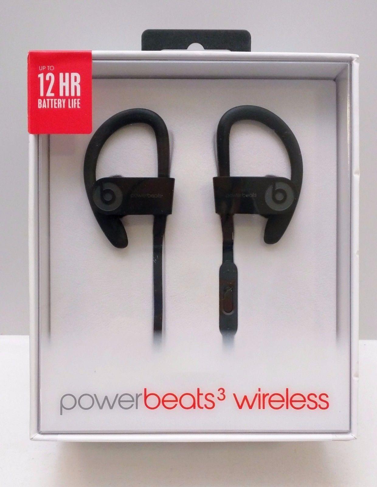Beats By Dr. Dre Powerbeats3 BLACK In-Ear Wireless Headphones - ML8V2LL/A
