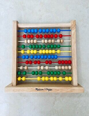Melissa and Doug Wooden Abacus Developmental Toy, Brightly-Colored Wooden Beads
