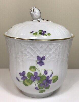 Vintage Lidded Pot A K Kaiser West Germany Viola Pattern Floral Fine Porcelain