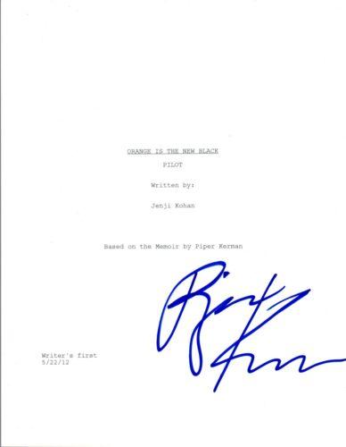Piper Kerman Signed Autographed ORANGE IS THE NEW BLACK Pilot Script COA VD