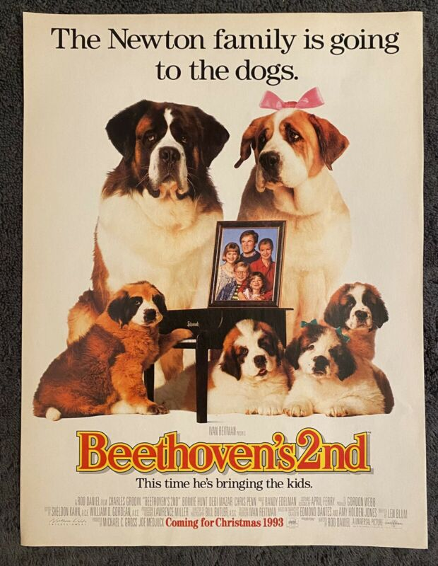 Rare Beethoven's 2nd Movie Advertisement 1993
