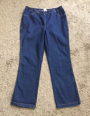 JUST MY SIZE Womens Plus Size 1X 16W Pull On Boot Cut Blue Jeans 30