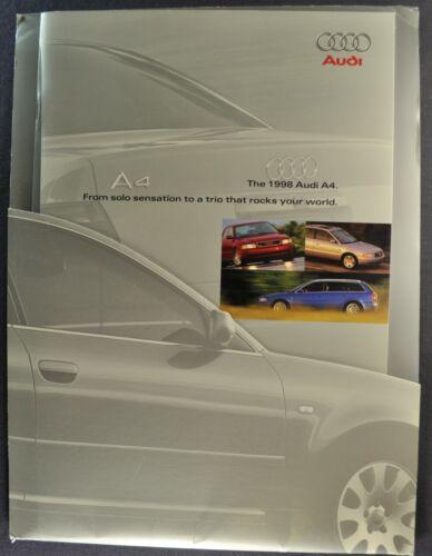 1998 Audi A4 40pg Brochure+Sleeve Sedan 1.8T 2.8 Avant Wagon Excellent Original