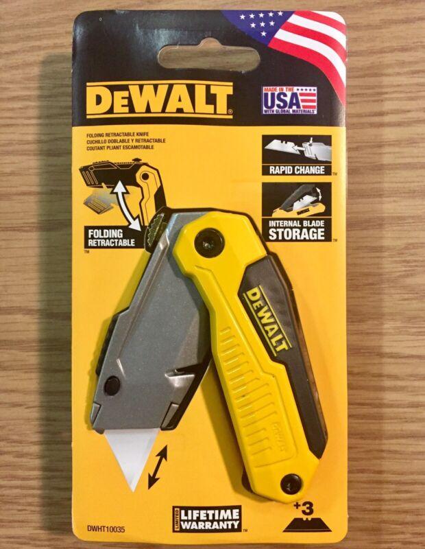 Folding Utility Knife Lock Back Retractable Blade DeWalt Box Cutter DWHT10035