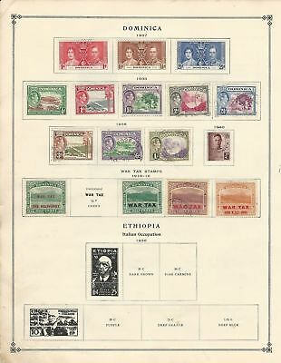 Dominica Collection 1923-1939 on 2 Scott International Pages