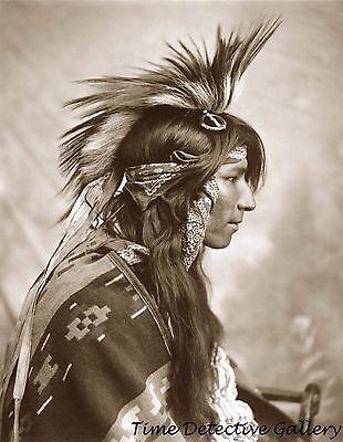 "Native American Cree Indian of Canada - 1903 - 8.5"" x 11"" Photo Print"