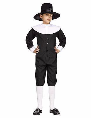 Pilgrim Boy Colonial Thanksgiving Child Costume (Male Pilgrim Costume)