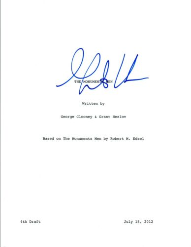 Grant Heslov Signed Autographed THE MONUMENTS MEN Full Movie Script COA VD