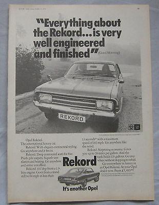 1971 Opel Rekord Original advert No.1