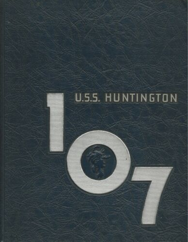 USS HUNTINGTON CL-107 MEDITERRANEAN DEPLOYMENT CRUISE BOOK YEAR LOG 1948 - NAVY