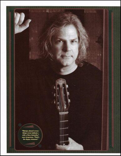 John Jorgenson with Gitane Acoustic Guitar 8 x 11 b/w pin-up photo 2b