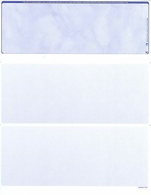 Blank Check Stock - Blank Check Paper Stock-Check On Top-Sky Blue-Count/500