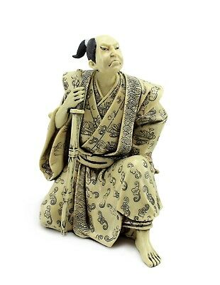 Japanese Warrior Samurai Bushi 武士 ぶし侍 Figurine Statue For Home Office Decor