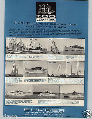 1963 PAPER AD Burger Boat Co Sail Boats Hurricane Hole Marina Nassau Bahamas