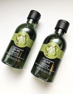2x New The Body Shop Olive Shower Gel 8.4Fl oz Creamy Soap-Free -