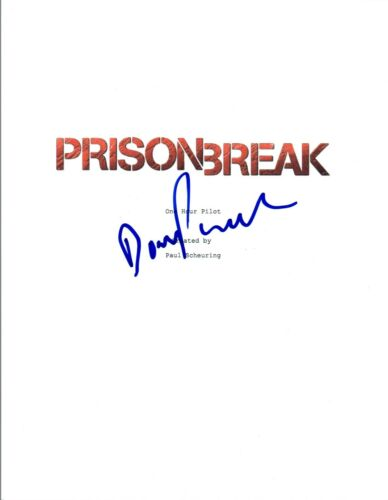 Dominic Purcell Signed Autographed PRISON BREAK Pilot Episode Script COA VD